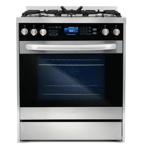 Cosmo 2 Piece Kitchen Appliance Package - Dual Fuel Range And Range Hood COS-305DFSC/QB75
