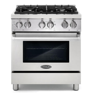 Cosmo 2 Piece Kitchen Appliance Package - Dual Fuel Range And Range Hood COS-DFR304/668AS750