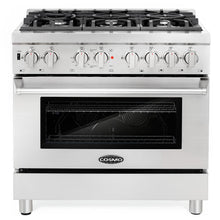 Cosmo 2 Piece Kitchen Appliance Package - Dual Fuel Range And Range Hood COS-DFR366/63190S