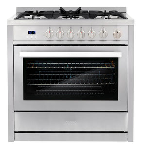 Cosmo 2 Piece Kitchen Appliance Package - Gas Range And Range Hood COS-965AGC /QB90