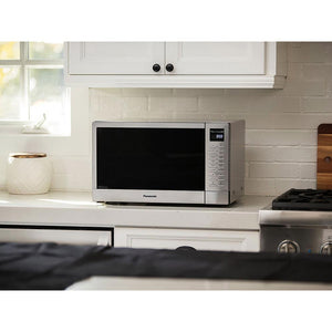 Panasonic NN-GN68KS 1000W Countertop Microwave With FlashXpress Broiler And Inverter Technology - Stainless Steel