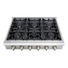 "Thor Kitchen 36"" Gas Rangetop in Stainless Steel with 6 Burners (HRT3618U)"