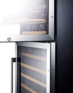 Summit Appliance Wine Reserves 118 Bottle Dual Zone Convertible Wine Cooler