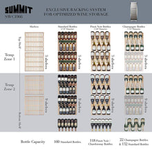 Summit Appliance Wine Reserves 161 Bottle Dual Zone Convertible Wine Cooler
