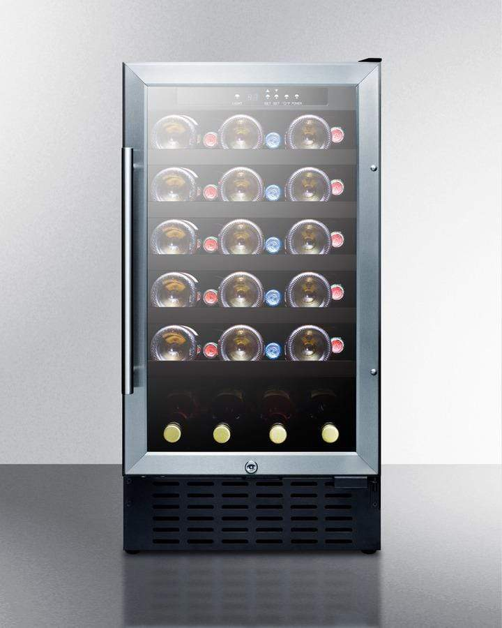 Summit Appliance Wine Reserves 34 Bottle Single Zone Convertible Wine Cooler ADA Compliant