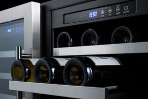 Summit Appliance Wine Reserves 68 Bottle Dual Zone Convertible Wine Cooler