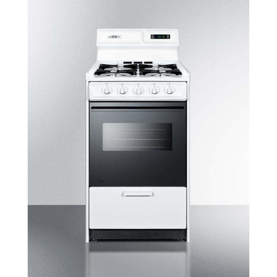 Summit Appliance Freestanding Ranges Deluxe gas range in slim 20