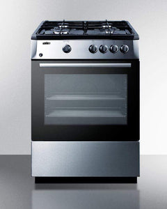 "Summit Appliance Freestanding Ranges Summit 24"" Freestanding Gas Range Stainless Steel PRO24G"