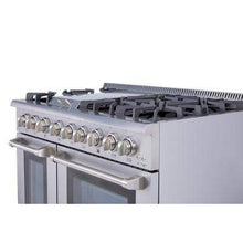 "Thor Kitchen Ranges Thor Kitchen 48"" Stainless Steel Dual Fuel Natural Gas Sealed Burner Double Oven Range Convection Fan HRG4808U"