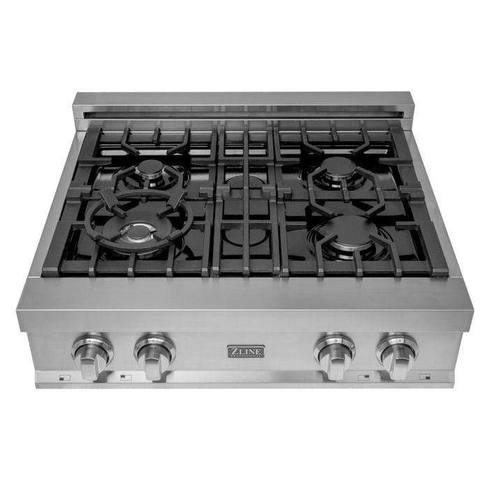 ZLINE Kitchen Cooktops 30 in. Ceramic Rangetop with 4 Gas Burners