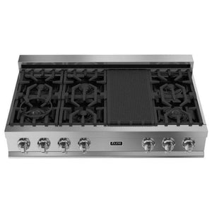ZLINE Kitchen Cooktops 48 in. Ceramic Rangetop with 7 Gas Burners