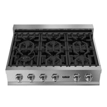 ZLINE Kitchen Cooktops Ceramic Rangetop with 6 Gas Burners