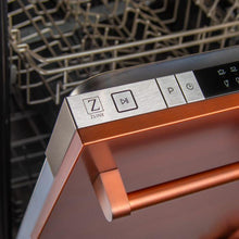 ZLINE Kitchen Dishwashers Zline 18 in. Top Control Dishwasher in Copper with Stainless Steel Tub and Traditional Style Handle