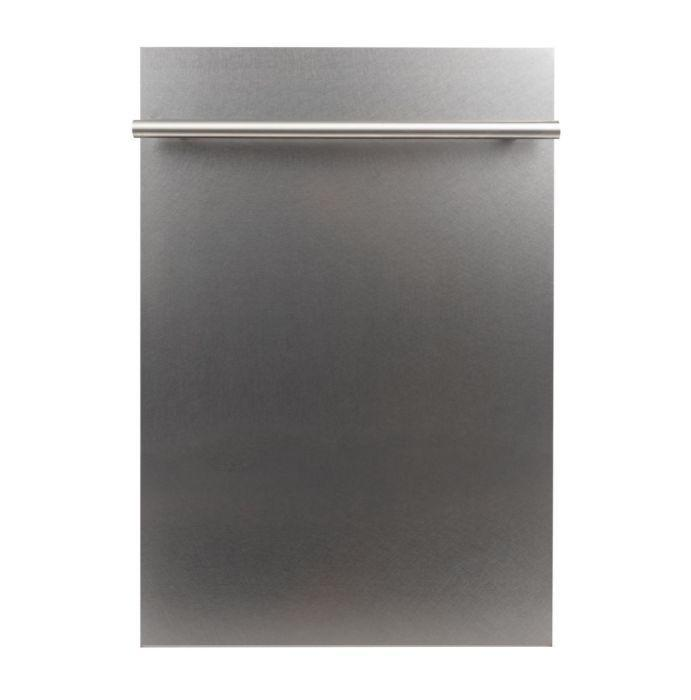 ZLINE Kitchen Dishwashers Zline 18 in. Top Control Dishwasher in Custom Panel Ready with Stainless Steel Tub