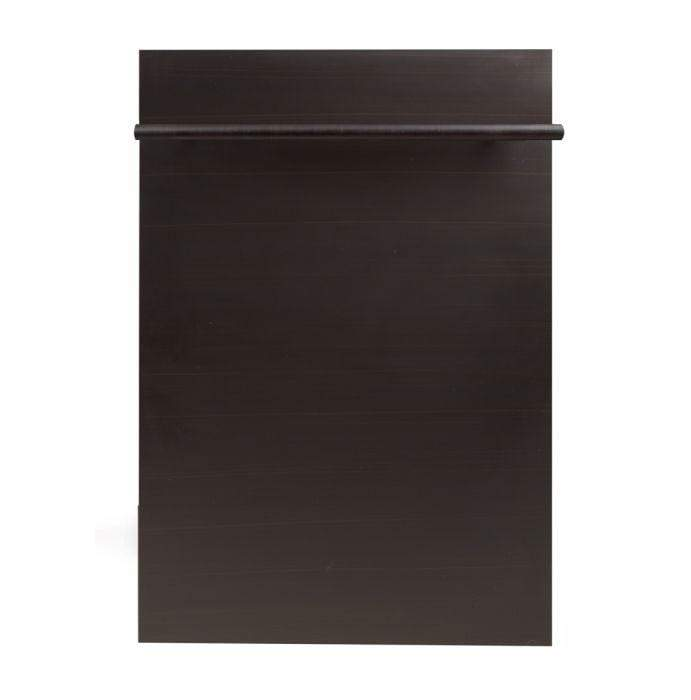ZLINE Kitchen Dishwashers Zline 18 in. Top Control Dishwasher in Oil-Rubbed Bronze with Stainless Steel Tub and Modern Style Handle