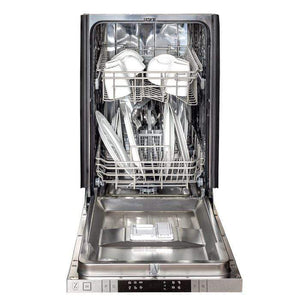 ZLINE Kitchen Dishwashers Zline 18 in. Top Control Dishwasher in Snow Finished Stainless Steel with Stainless Steel Tub and Modern Style Handle
