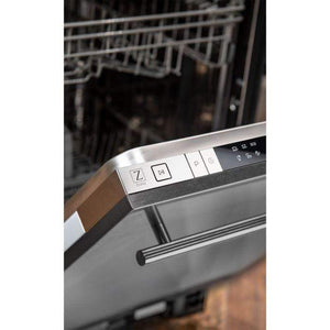ZLINE Kitchen Dishwashers Zline 18 in. Top Control Dishwasher in Snow Finished Stainless Steel with Stainless Steel Tub and Traditional Style Handle