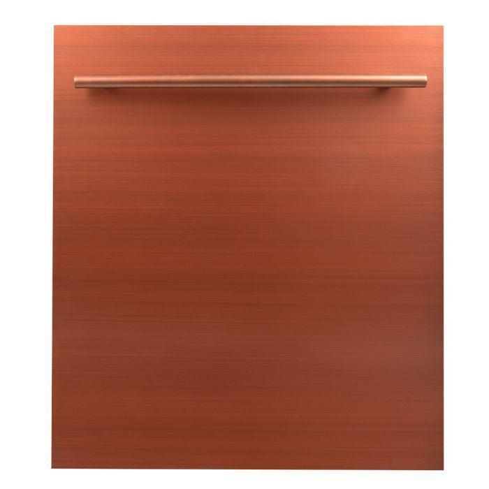 ZLINE Kitchen Dishwashers Zline 24 in. Top Control Dishwasher in Copper with Stainless Steel Tub and Modern Style Handle