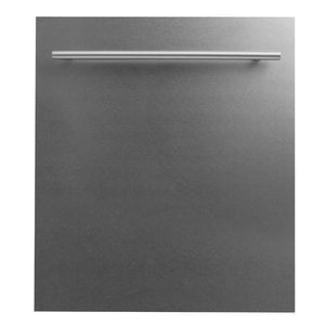 ZLINE Kitchen Dishwashers Zline 24 in. Top Control Dishwasher in Snow Finished Stainless Steel with Stainless Steel Tub and Modern Style Handle