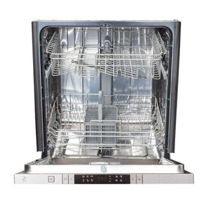 ZLINE Kitchen Dishwashers Zline 24 in. Top Control Dishwasher in Snow Finished Stainless Steel with Stainless Steel Tub and Traditional Style Handle