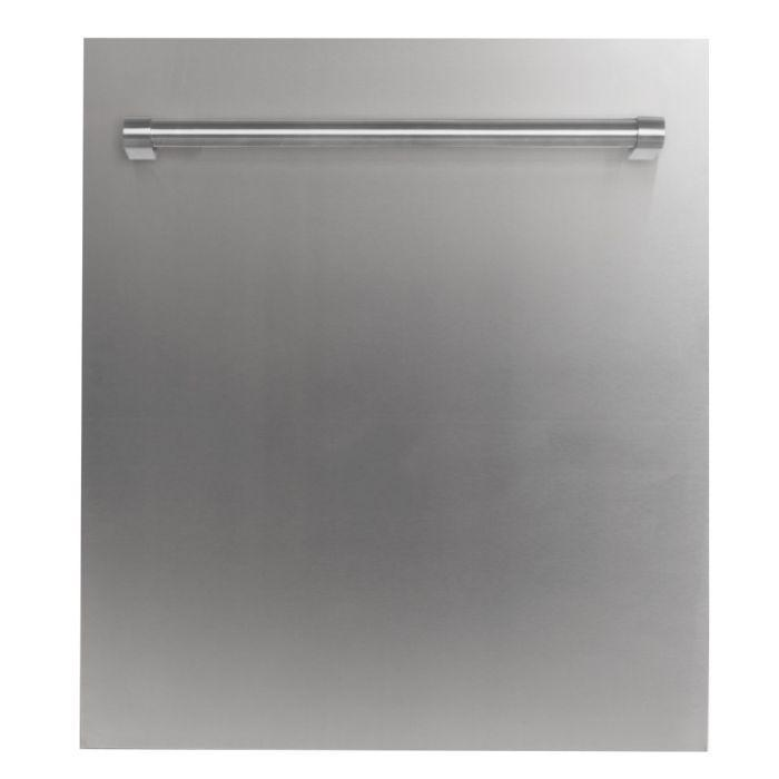 ZLINE Kitchen Dishwashers Zline 24 in. Top Control Dishwasher in Stainless Steel with Stainless Steel Tub and Traditional Style Handle