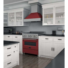 "ZLINE Kitchen Ranges 30"" ZLINE 30""Professional Dual Fuel Range, Snow Stainless, Red Matte Door. RAS-RM-30"
