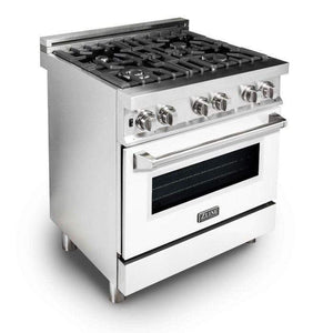 "ZLINE Kitchen Ranges 30"" ZLINE 30"" Professional Dual Fuel Range with White Matte Door, RA-WM-30"