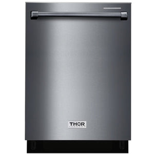 Thor 24 in. HDW2401BS Dishwasher in Black Stainless Steel Built