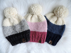 Custom Order - Adult Ombre Knit Hat