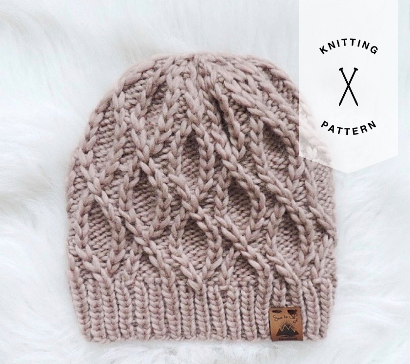 The Serpentine Beanie Knitting Pattern - Instant Download