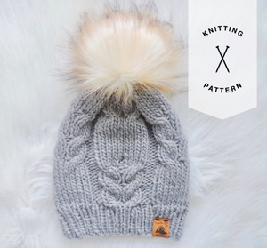 The Winding Rivers Beanie Knitting Pattern - Instant Download