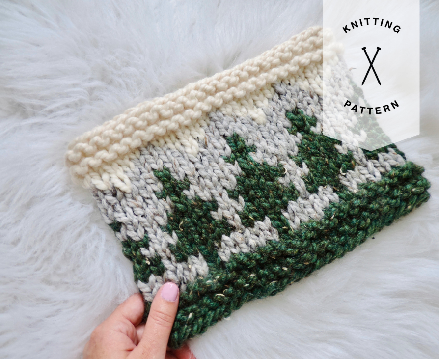 The Mountaineer Cowl Knitting Pattern - Instant Download