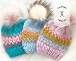 The Starburst Beanie Knitting Pattern - Instant Download