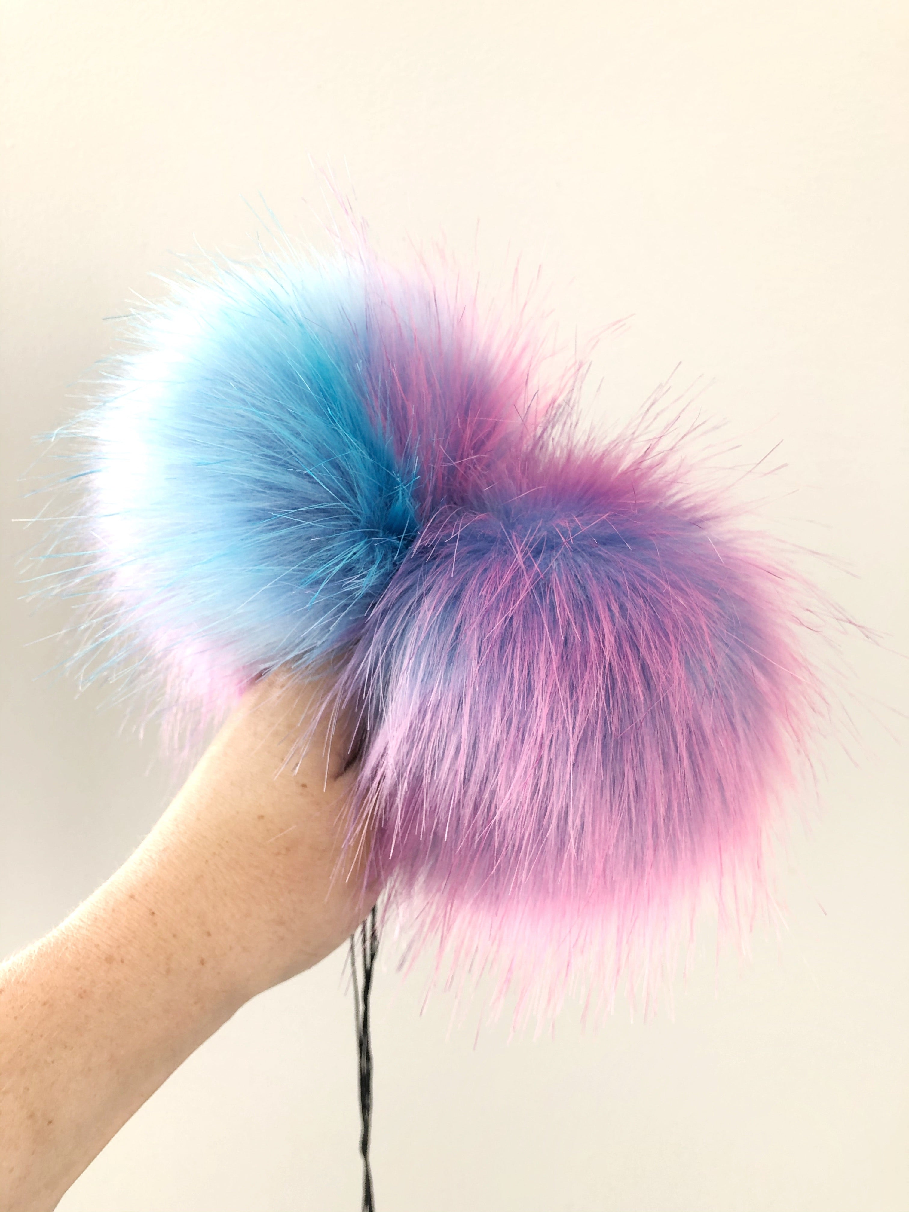 Made to Order - Cotton Candy Faux Fur Pom