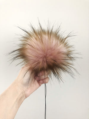 Made to Order - Peachy Faux Fur Pom
