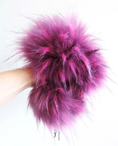 Made to Order - Raspberry Faux Fur Pom