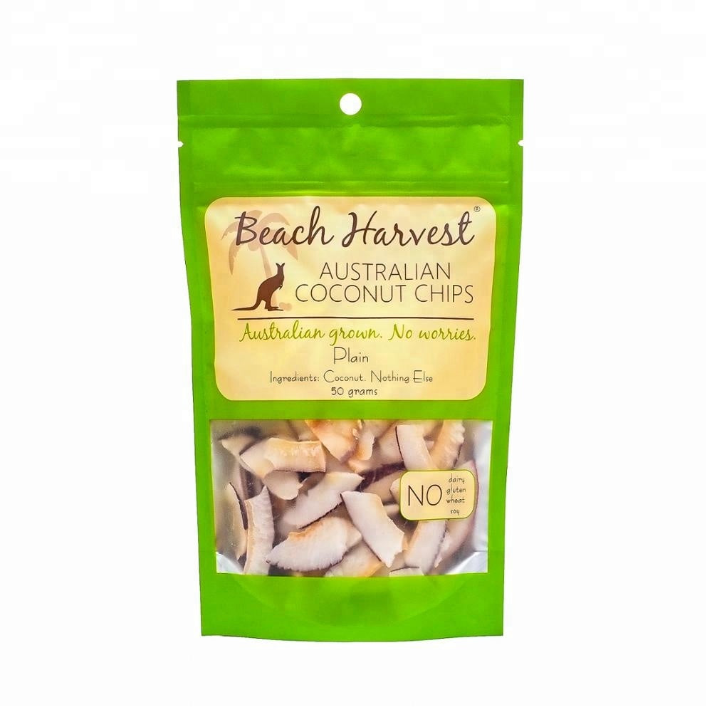 Australian grown Dried Coconut Chips, Plain Flavour