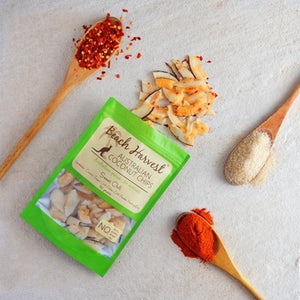 Australian grown Dried Coconut Chips, Sweet Chilli Flavour