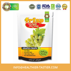 Grape Flavored Real Crispy 100% Fruit Gluten Free Organic Healthy Snack