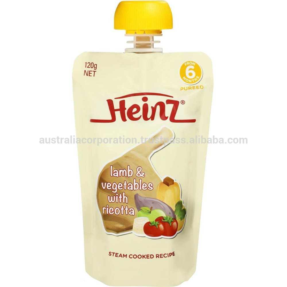 Heinz Pureed Lamb & Vegetables With Ricotta Pouch 120g from 6 months baby food