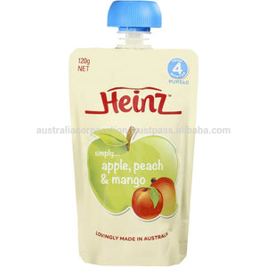 Heinz Pureed Simply Pear Banana & Apple Pouch 120g from 4 months baby food