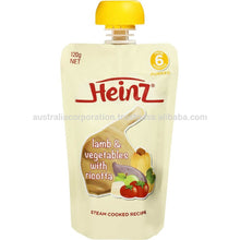 Load image into Gallery viewer, Heinz Pureed Simply Pear Banana & Apple Pouch 120g from 4 months baby food