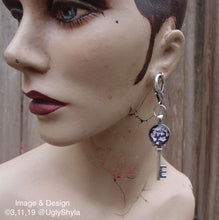 Load image into Gallery viewer, Key Earring Ear Weights for Stretched Ears by Ugly Shyla