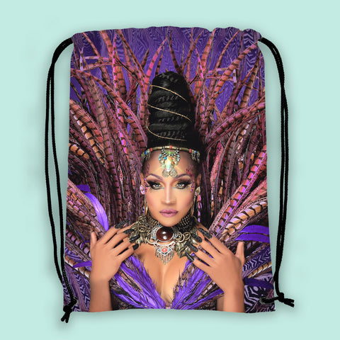 Feathered Goddess Drawstring Bag