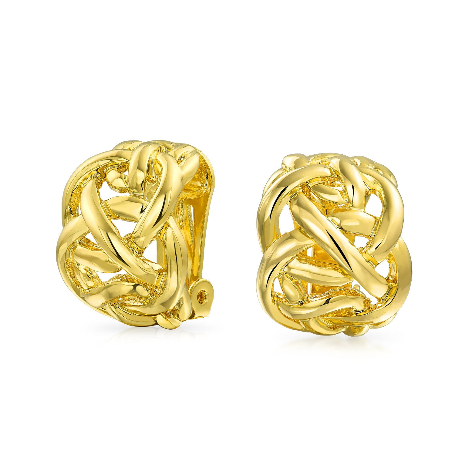 knotty gold clip ons