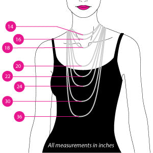 Necklace Size Chart Find The Right Necklace Size Bling Jewelry