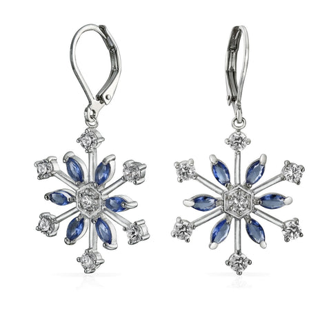 Blue Cubic Zirconia Silver Plated