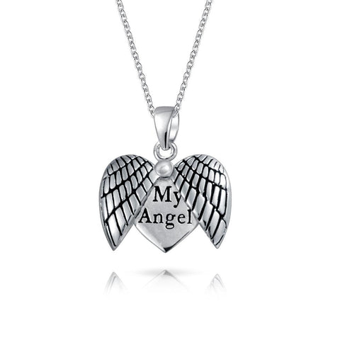 Heart Wings Locket Pendant Necklace
