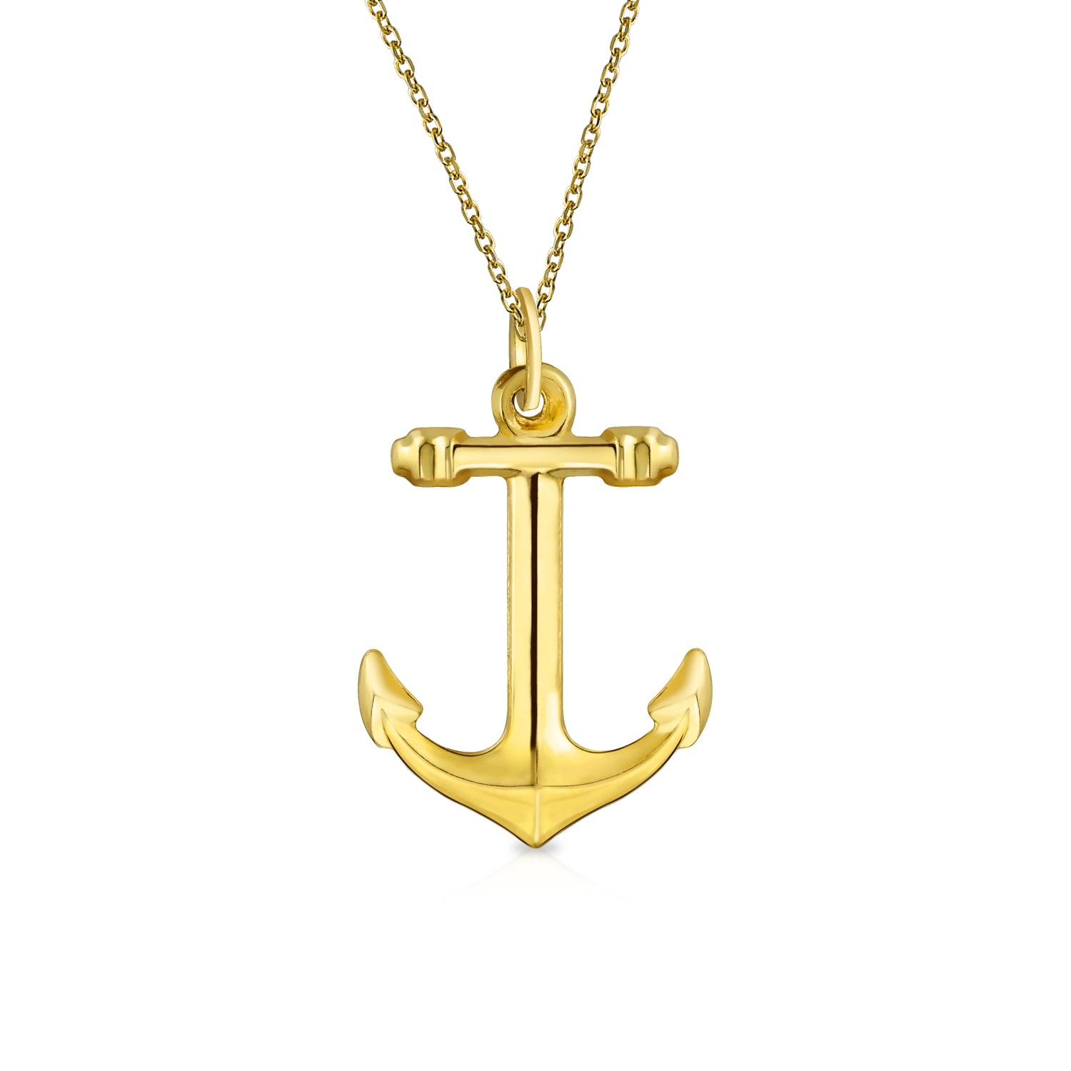 Precious Finds Jewelry Rope anchor .925 Sterling Silver Pendant Necklace