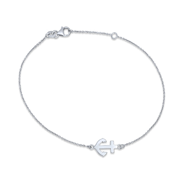 Sterling Silver Beaded Ankle Bracelet Nautical Jewelry Real Pearl Charm Stingray Anklet Sea Life Ankle Chain Good Luck Charm Jewelry